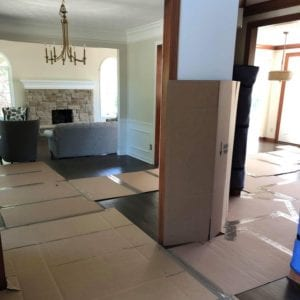 Krupp Moving floor protection on house