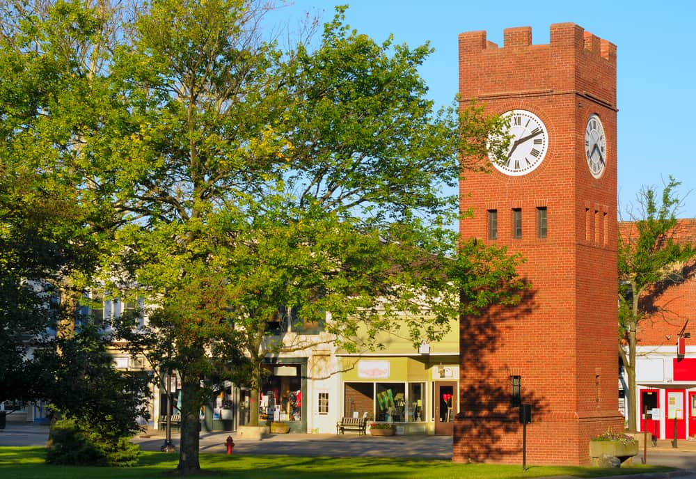 Hudson Clock Tower in Hudson, OH