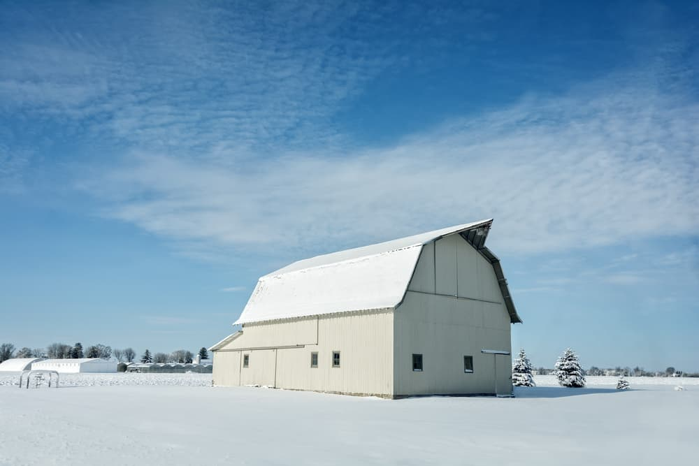Snow on a Barn in Ohio