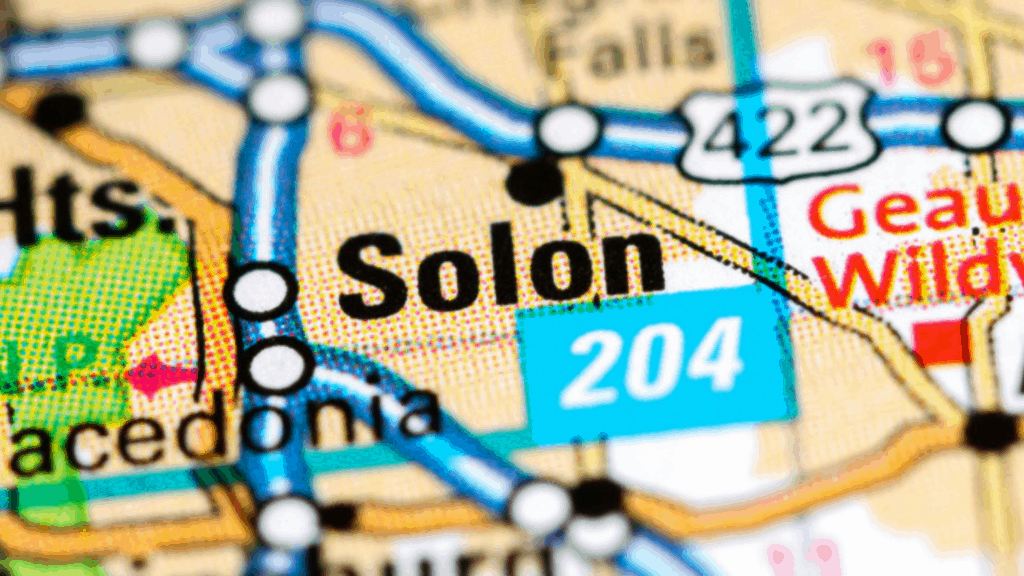 Solon, OH on a map - Moving to Solon 2019