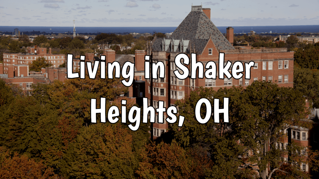 Aerial view of Shaker Heights, OH historical building.