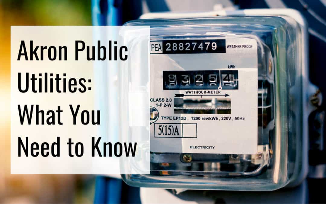 Akron, OH Utilities | (2019) Guide to Water & Other Akron Public Utilities