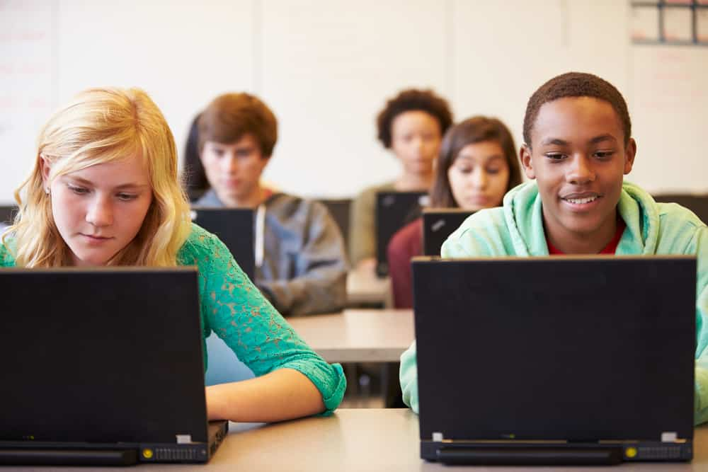 Students on laptops at schools in Copley, OH