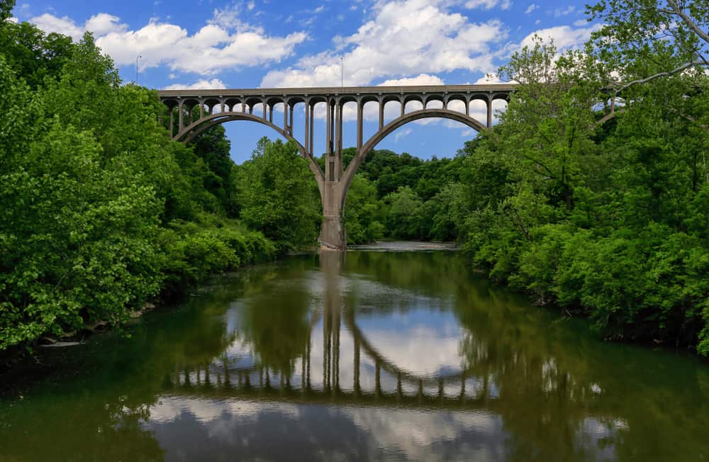 Bridge across Cuyahoga River in Cuyahoga Valley National Park