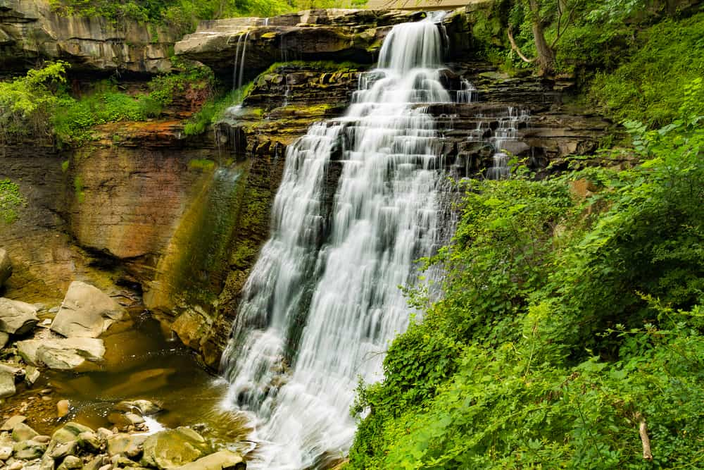 Brandywine Falls in Cuyahoga Valley National Park in Ohio